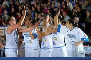 DESCRIZIONE : Venezia Additional Qualification Round Eurobasket Women 2009 Italia Croazia<br /> GIOCATORE : Team Italia<br /> SQUADRA : Nazionale Italia Donne<br /> EVENTO : Italia Croazia<br /> GARA :<br /> DATA : 10/01/2009<br /> CATEGORIA : Esultanza<br /> SPORT : Pallacanestro<br /> AUTORE : Agenzia Ciamillo-Castoria/M.Gregolin<br /> Galleria : Fip Nazionali 2009<br /> Fotonotizia : Venezia Additional Qualification Round Eurobasket Women 2009 Italia Croazia<br /> Predefinita :