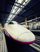 The Tohoku Shinkansen Northern Bullet trains run from Tokyo to Hachinohe in the north of the main island of Honshu and operate at 275km/h or 170mph.