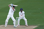 Sussex batsman Ed Joyce strikes out during the Specsavers County Champ Div 2 match between Sussex County Cricket Club and Essex County Cricket Club at the 1st Central County Ground, Hove, United Kingdom on 17 April 2016. Photo by Bennett Dean.