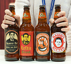 Bottle beers for sale with Miliband's head on  for sale at the Conservative Party Conference-Day One. Manchester, United Kingdom. Sunday, 29th September 2013. Picture by Elliot Franks/ i-Images