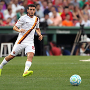 Alessandro Florenzi, AS Roma, in action during the Liverpool Vs AS Roma friendly pre season football match at Fenway Park, Boston. USA. 23rd July 2014. Photo Tim Clayton