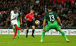 Raheem Sterling of England shoots at goal - Mandatory by-line: Robbie Stephenson/JMP - 05/10/2017 - FOOTBALL - Wembley Stadium - London, United Kingdom - England v Slovenia - World Cup qualifier
