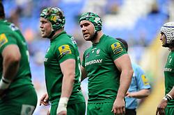 Jebb Sinclair of London Irish looks on - Photo mandatory by-line: Patrick Khachfe/JMP - Mobile: 07966 386802 12/04/2015 - SPORT - RUGBY UNION - Reading - Madejski Stadium - London Irish v Sale Sharks - Aviva Premiership