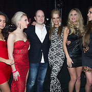 NLD/Amsterdam/20140201 - Uitverkiezing Playmate of the Year 2013, playmates Joy, Jolyn, Hester, Lien en Estrella