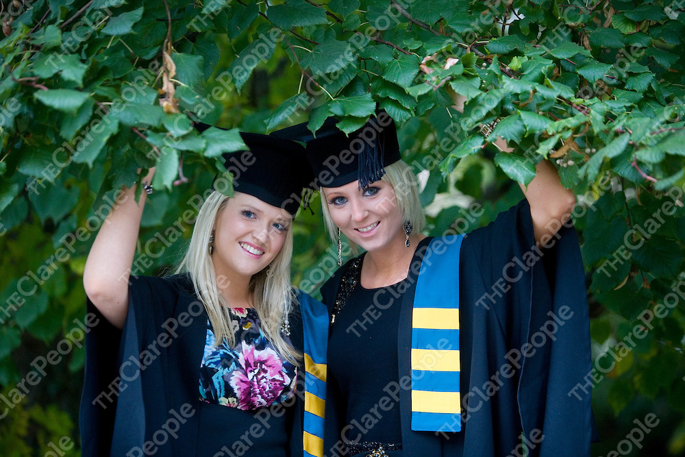 22/10/10  ***PICTURES with COMPLIMENTS*****<br /> Zoe Halpin, Lissycasey and Sarah Kiely, Monaleen after graduating from Mary Immaculate College, Limerick. Pic Sean Curtin Press 22.