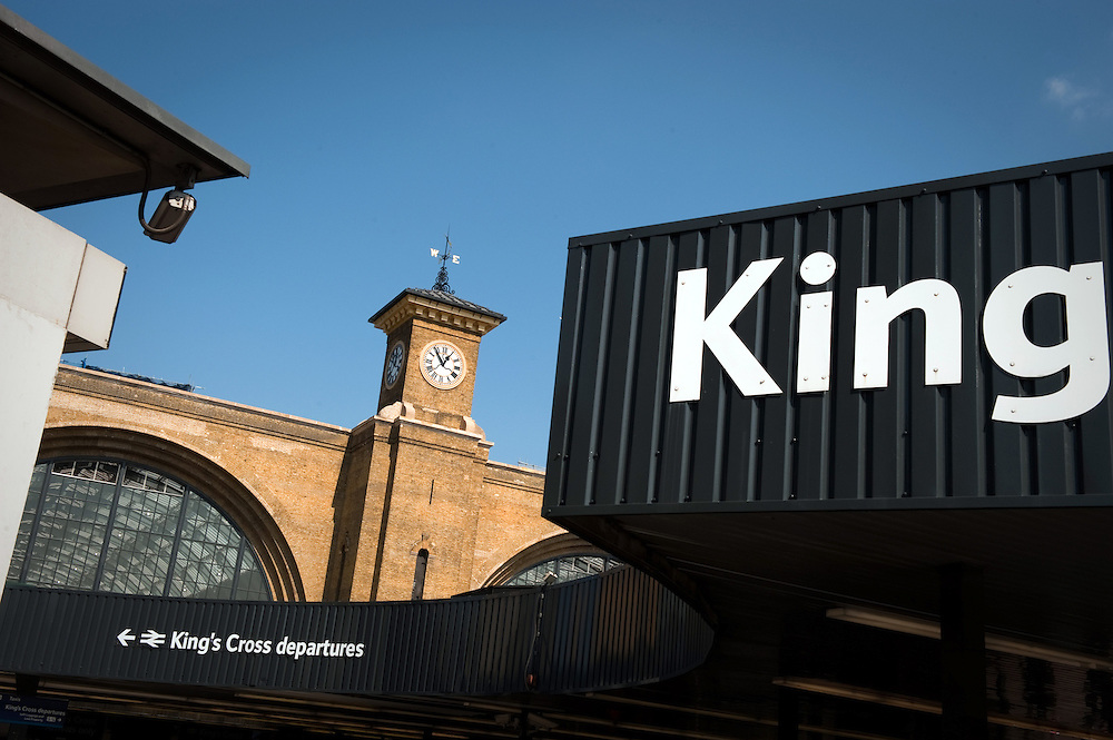 London's Kings Cross Railway Station, UK.