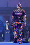 Peter Wright (Scotland) during his match against Michael Van Gerwen (Netherlands) (not in picture) in the final of the PDC William Hill World Darts Championship at Alexandra Palace, London, United Kingdom on 1 January 2020.