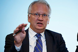 © Licensed to London News Pictures. 19/01/2015. LONDON, UK. Par Nuder, former Minister of Finance for Sweden speaks at UK launch of the Commission on Inclusive Prosperity's report at Financial Times HQ in London. Photo credit : Tolga Akmen/LNP