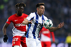 December 6, 2017 - Porto, Porto, Portugal - Porto's Mexican midfielder Hector Herrera (R) in action with Kamil Glik defender of AS Monaco FC (L) during the UEFA Champions League Group G match between FC Porto and AS Monaco FC at Dragao Stadium on December 6, 2017 in Porto, Portugal. (Credit Image: © Dpi/NurPhoto via ZUMA Press)
