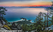 Sunset at Lake Tahoe 1 - Sunset above Sand Harbor, taken from the Flume Trail.