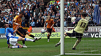 Photo: Paul Thomas.<br /> Wolverhampton Wanderers v Birmingham City. Coca Cola Championship. 22/04/2007.<br /> <br /> Jay Bothroyd (Orange) of Wolves puts this great scoring chance from in-front of goal over the cross bar.