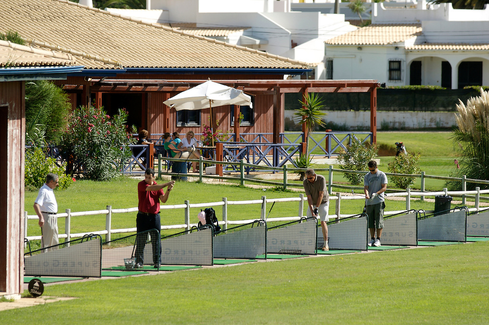 Golf course driving range Algarve, Portugal