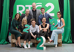 Repro Free: 11/09/2014<br /> Maia Dunphy, Neil Delamere, Fred Cooke,  Ross Browne and Kelly McDonagh Mongan, (front) Blathnaid Treacy and Stephen Byrne and Hilary Rose	pictured at the RT&Eacute; Two New Season Launch in Gateway House, Capel Street. Picture Andres Poveda