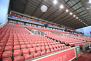 Main stand during the Premier League match between Stoke City and Manchester City at the Bet365 Stadium, Stoke-on-Trent, England on 12 March 2018. Picture by Graham Holt.