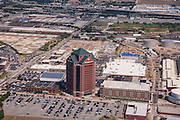 Office and retail building aerial photography of Canton Crossing in Baltimore Maryland by Jefrey Sauers of Commercial Photographics