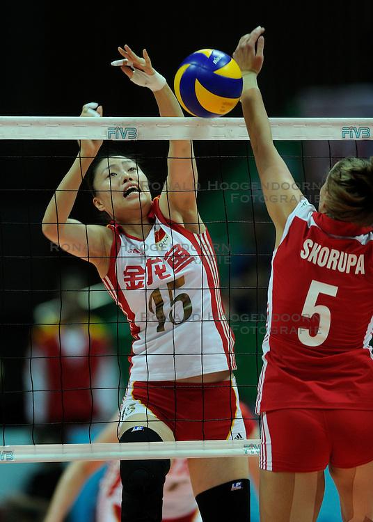 27-08-2010 VOLLEYBAL: WGP FINAL CHINA - POLAND: BEILUN NINGBO<br /> China beats Poland in straight sets / Yunwen Ma<br /> &copy;2010-WWW.FOTOHOOGENDOORN.NL