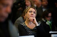 DEU, Deutschland, Germany, Berlin, 28.09.2013:<br />L&auml;nderrat (Kleiner Parteitag) von B&Uuml;NDNIS 90/DIE GR&Uuml;NEN in den Uferstudios. Simone Peter, designierte neue Parteichefin von B&Uuml;NDNIS 90/DIE GR&Uuml;NEN.