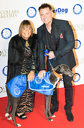 "Battersea, London, November 3rd 2016.  Celebrities and their dogs attend The Evolution at Battersea Park to attend The Battersea Dogs and Cats Home ""Collars and Coats Ball"". PICTURED:Hilary Alexander and Charles Worthington"