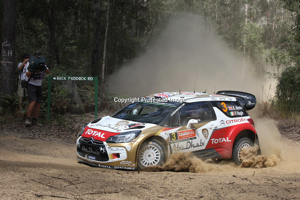 Kris Meeke (GBR). Rally Australia - Round 10 of the FIA World Rally Championship, Day 1, 12 September 2014. Photo: Alan McDonald/www.photosport.co.nz