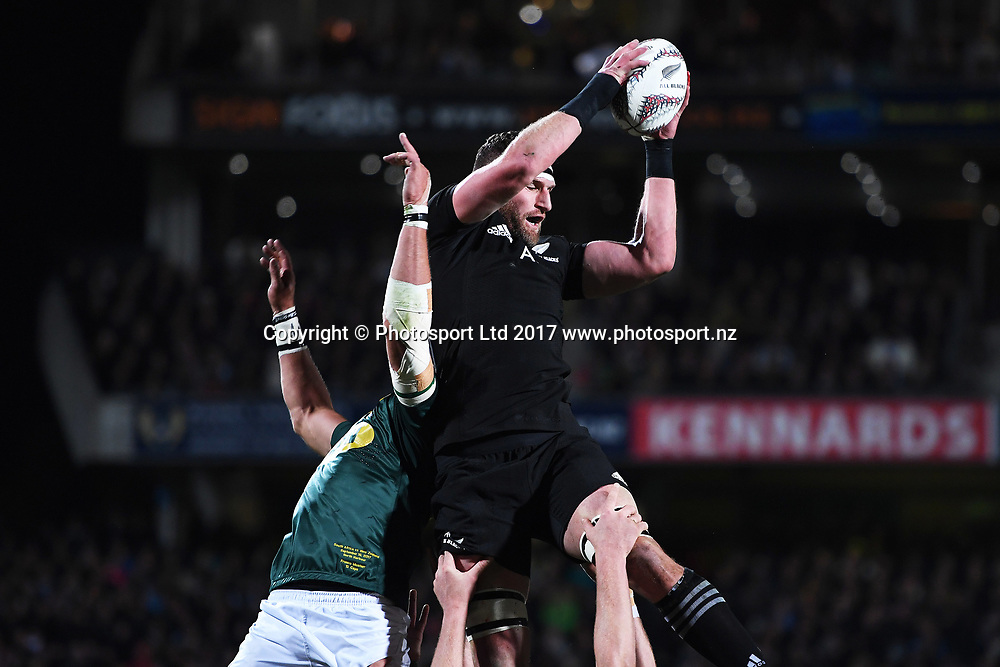 Captain Kieran Read during the Rugby Championship test match rugby union. New Zealand All Blacks v South Africa Springboks, QBE Stadium, Auckland, New Zealand. Saturday 16 September 2017. © Copyright photo: Andrew Cornaga / www.Photosport.nz