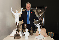 Liverpool-based sculptor Tom Murphy unveils his models of the John Atyeo statue in the Bristol Sport bar and Grill - Mandatory byline: Dougie Allward/JMP - 07966 386802 - 31/10/2015 - FOOTBALL - Ashton Gate - Bristol, England - Bristol City v Fulham - Sky Bet Championship