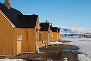 Nederlands Poolstation Spitsbergen - Dutch Arctic Station at Ny Alesund, Svalbard. Ny Alesund is no longer a mining town, but an international scientfic research base.