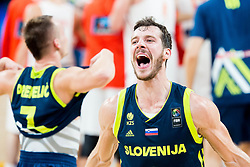 Goran Dragic of Slovenia celebrates after winning during basketball match between National Teams of Slovenia and Spain at Day 15 in Semifinal of the FIBA EuroBasket 2017 at Sinan Erdem Dome in Istanbul, Turkey on September 14, 2017. Photo by Vid Ponikvar / Sportida