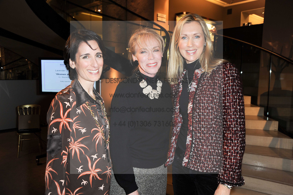 Left to right, PRINCESS DEMETRA VON AUERSPERG-BREUNNER, JUNE PRICE and COUNTESS CATRINA GUERRINI-MARALDI  at a lecture in aid of The Lavender Trust hosted by Asprey, Bond Street, London on 27th January 2010.