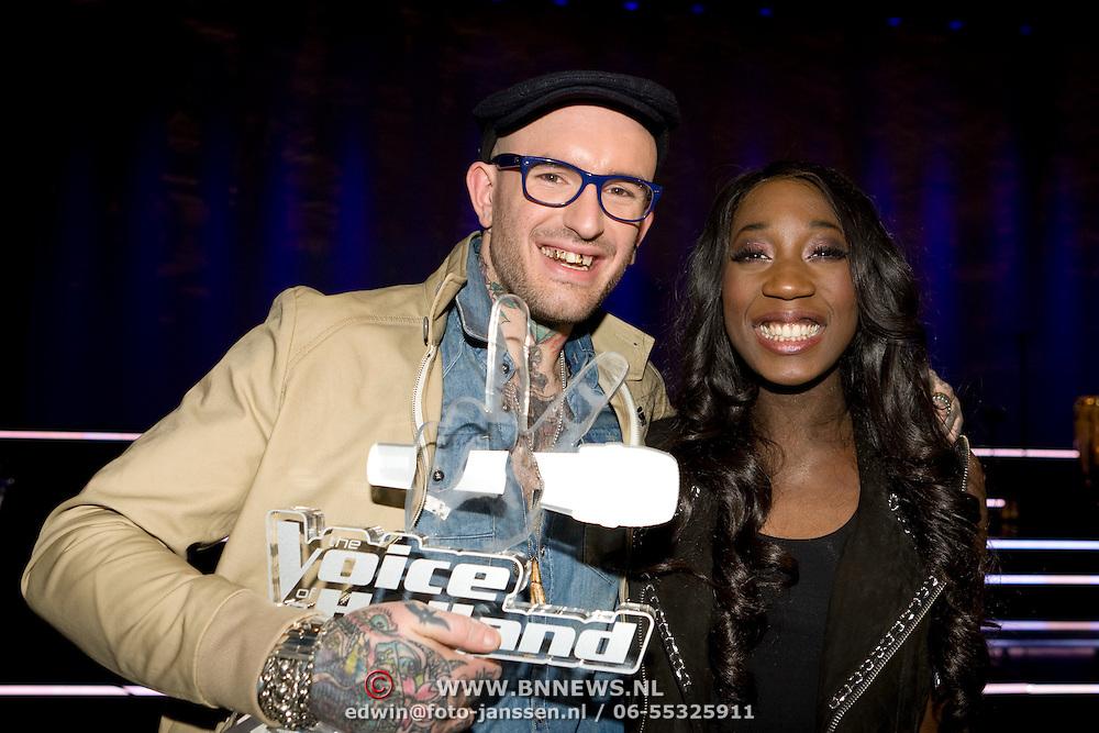 NLD/Ede/20110121 - Finale The Voice of Holland 2011, winnaar Ben Saunders en Pearl Jozefzoon