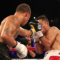 NEW ORLEANS, LA - JULY 14:  Regis Prograis (L) fights Juan Jose Velasco during their WBC Diamond Super Lightweight Title boxing match at the UNO Lakefront Arena on July 14, 2018 in New Orleans, Louisiana.  (Photo by Alex Menendez/Getty Images) *** Local Caption *** Regis Prograis; Juan Jose Velasco