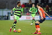 Forest Green Rovers Keanu Marsh-Brown(7) runs forward during the EFL Sky Bet League 2 match between Forest Green Rovers and Luton Town at the New Lawn, Forest Green, United Kingdom on 16 December 2017. Photo by Shane Healey.