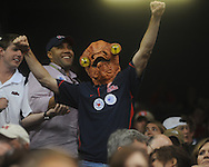 A Ole Miss fan dressed as Admiral Ackbar cheers vs. Tulane at the Louisiana Superdome in New Orleans, La. on Saturday, September 11, 2010. Ole Miss won 27-13.