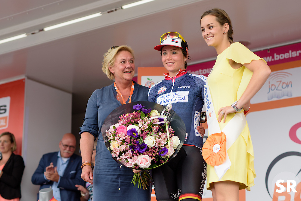 Chantal Hoffmann (Lotto Soudal) is awarded the most combative rider at the 116 km Stage 5 of the Boels Ladies Tour 2016 on 3rd September 2016 in Tiel, Netherlands. (Photo by Sean Robinson/Velofocus).