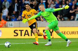 Jordan Pickford of Everton clears the ball - Mandatory by-line: Nizaam Jones/JMP - 11/08/2018/ - FOOTBALL -Molineux  - Wolverhampton, England - Wolverhampton Wanderers v Everton - Premier League