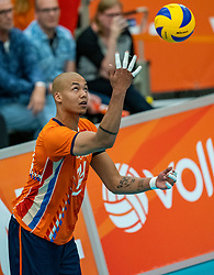 09-06-2019 NED: Golden League Netherlands - Spain, Koog aan de Zaan<br /> Fourth match poule B - The Dutch beat Spain again in five sets in the European Golden League / Nimir Abdelaziz #14 of Netherlands