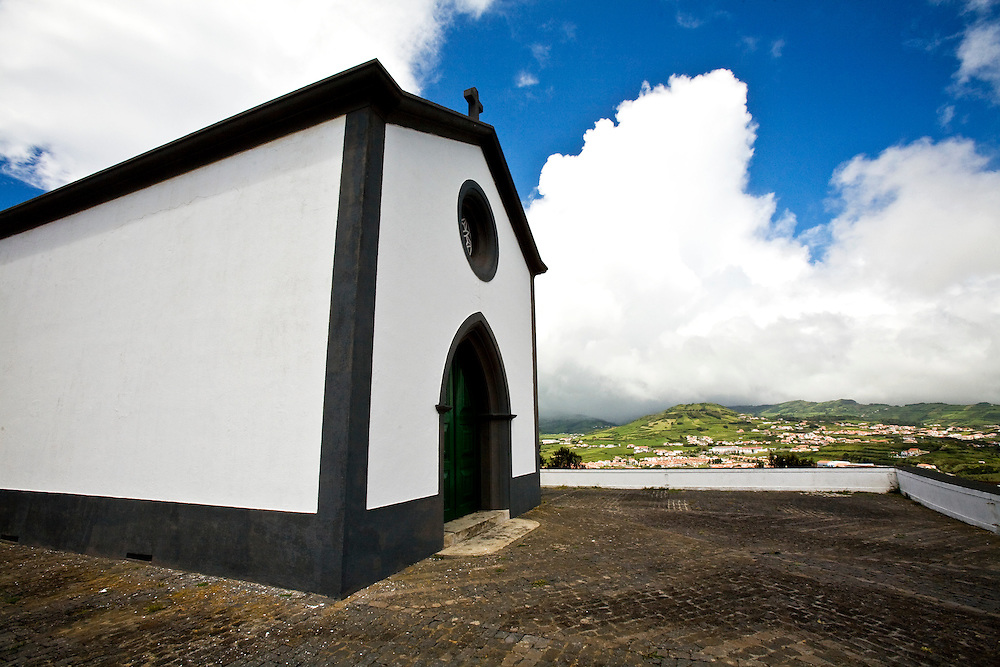 Nossa Senhora da Guia offers beautiful views across the city of Horta. The church is at the top[ of Monte da Guia. Horta is on the island of Faial. One of of the Azores, which is  a group of islands in the Atlantic that are a part of Portugal and the European Union. Horta is a popular stop for yachts crossing the Atlantic in the Spring time to return to Europe.