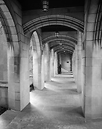 The Cloisters of the 4th Presbyterian Church in Chicago.     Aspect Ratio 1w x 1.27h