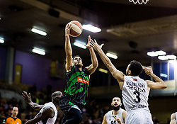 Talor Battle of Petrol Olimpija vs Nigel Williams-Goss of Partizan NIS during basketballl match between KK Petrol Olimpija Ljubljana and KK Partizan NIS mts in Round #20 of ABA League 2017/18, on February 10, 2018 in Tivoli sports hall, Ljubljana, Slovenia. Photo by Vid Ponikvar / Sportida