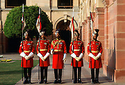 The Presidential Guard at the President's Palace at Rashtrapati Bhavan, India