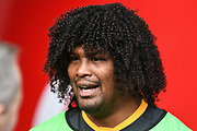 Wasps second row Ashley Johnson during the Gallagher Premiership Rugby match between Wasps and London Irish at the Ricoh Arena, Coventry, England on 20 October 2019.