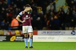 James Chester of Aston Villa cuts a dejected figure - Mandatory by-line: Dougie Allward/JMP - 14/01/2017 - FOOTBALL - Molineux - Wolverhampton, England - Wolverhampton Wanderers v Aston Villa - Sky Bet Championship
