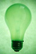 green tinted light bulb