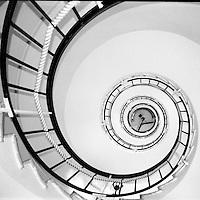 Escalier en Spirale dans le phare du cap d'Antibes