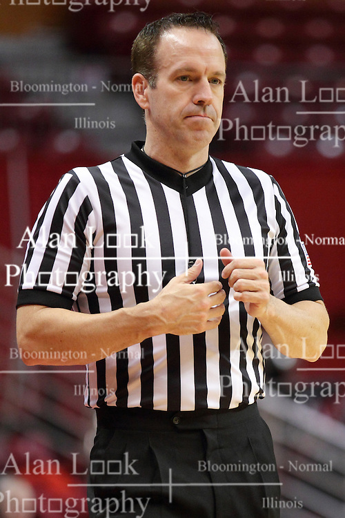04 January 2015:  Referee Brad Maxey  during an NCAA MVC (Missouri Valley Conference) women's basketball game between the Southern Illinois Salukis and the Illinois Sate Redbirds at Redbird Arena in Normal IL