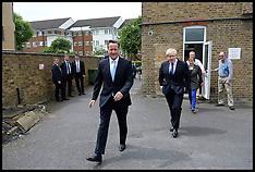 May 21 2014 David Cameron and Boris Johnson campaigning
