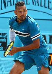June 23, 2018 - London, England, United Kingdom - Nick Kyrgios (AUS)) in action .during Fever-Tree Championships  Semi Final match between Marin Cilic (CRO) against Nick Kyrgios (AUS)) at The Queen's Club, London, on 23 June 2018  (Credit Image: © Kieran Galvin/NurPhoto via ZUMA Press)