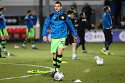Forest Green Rovers Haydn Hollis(32) warming up during the EFL Sky Bet League 2 match between Newport County and Forest Green Rovers at Rodney Parade, Newport, Wales on 6 March 2018. Picture by Shane Healey.