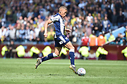 West Bromwich Albion striker (on loan from Newcastle United) Dwight Gayle (16) scores a goal from open play 0-1 during the EFL Sky Bet Championship first leg Play Off match between Aston Villa and West Bromwich Albion at Villa Park, Birmingham, England on 11 May 2019.