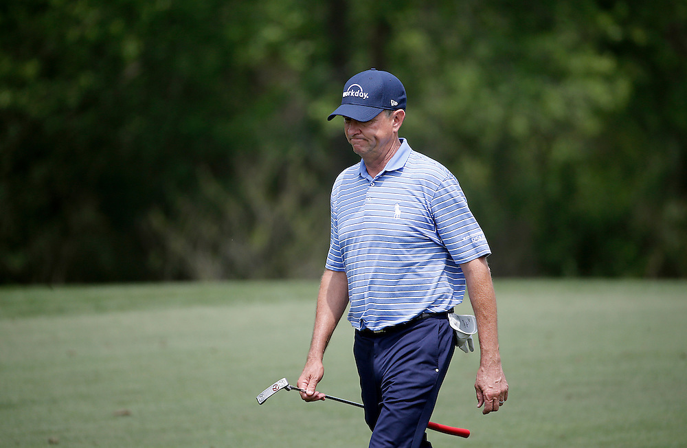 Davis Love III walks the 2nd fairway in the Shell Houston Open-Round 1 at the Golf Club of Houston on Wednesday, March 31, 2016 in Humble, TX. (Photo: Thomas B. Shea/For the Chronicle)