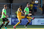 Forest Green Rovers Carl Winchester(7) claims the ball during the Pre-Season Friendly match between Torquay United and Forest Green Rovers at Plainmoor, Torquay, England on 10 July 2018. Picture by Shane Healey.